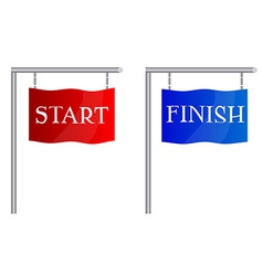 Start finish flags vector