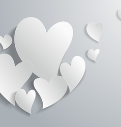 3d white paper abstract love background vector