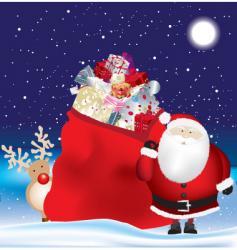 Santa's sack vector image