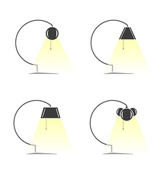 Set of lamps vector