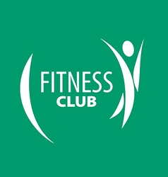 Abstract logo for fitness clubs on a green vector