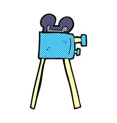 Comic cartoon movie camera vector