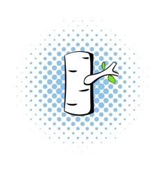 Birch icon in comics style vector