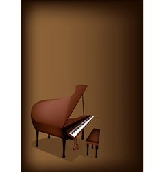 A Retro Grand Piano on Dark Brown Background vector image vector image