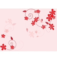 Abstract floral background with flowers vector image vector image
