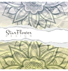 background of crumpled torn paper with vector image