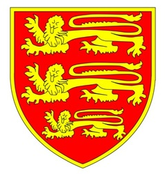 British Three Lions Shield vector image vector image