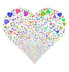 Cardiology fireworks heart vector