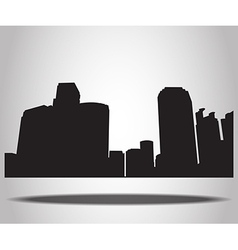 Cities Silhouettes on the white background vector image