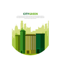 city green ecology cityscape vector image vector image