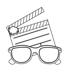 clipart and 3d glasses icon vector image