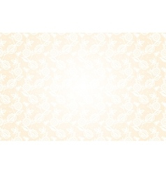 Delicate beige background with lace floral pattern vector image