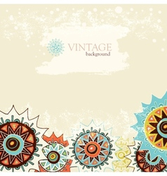 Detailed ornament background with colorful circles vector