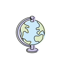 earth planet map desk object vector image vector image