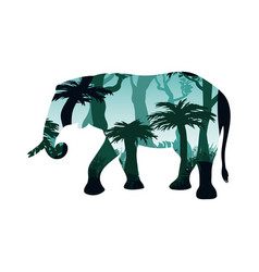 elephant silhouette concept vector image