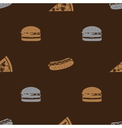fast food brown pattern seamless eps10 vector image
