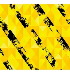 Grungy hazard stripes texture vector