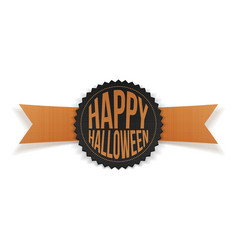 Happy halloween greeting label with text vector