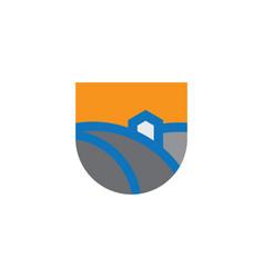 Home nature icon logo vector