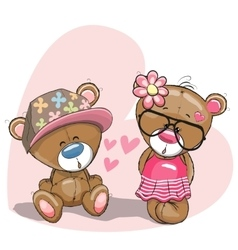 Lovers bears vector