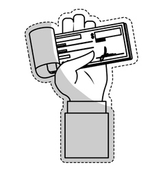 Mobile payments design vector