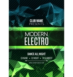 Modern Future Sound Party Template Dance Party vector image vector image