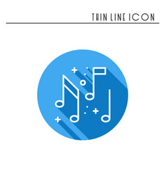 Music notes icon disco dance nightlife club vector