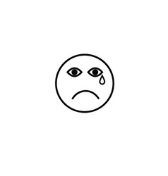 sad cry emotion icon vector image