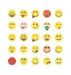 set of colored emoji icon vector image