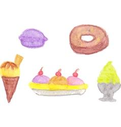 Set of sweet treats vector