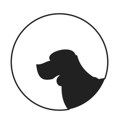 Silhouette of a dog head beagle vector