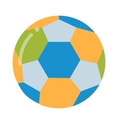 Soccer ball isolated on white vector image vector image