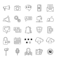 Social media icons set internet web icons vector