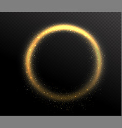 sparkle glitter circle round shape frame glow vector image vector image