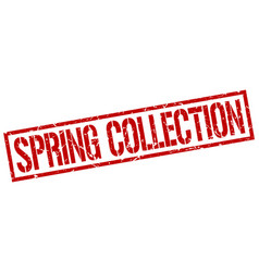 spring collection stamp vector image vector image