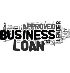 What to do if your business loan is not approved vector