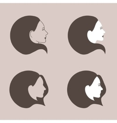 Woman fashion icons set vector