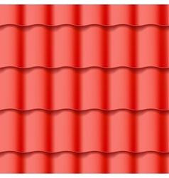 Tiled roof seamless pattern vector