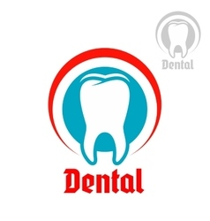 Dentistry isolated icon or emblem vector