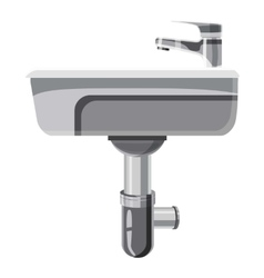 Sink in the bathroom icon cartoon style vector