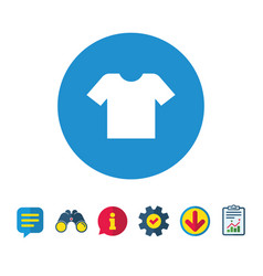 T-shirt sign icon clothes symbol vector