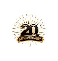 20th anniversary vector image