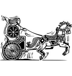 Brigid Chariot vector image