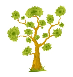 Cartoon bonsai tree vector