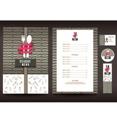Restaurant or cafe menu design template vector image