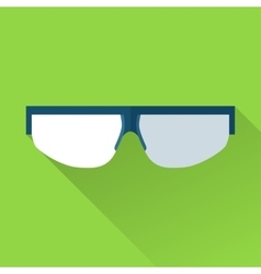 Safety goggles flat color icon vector image