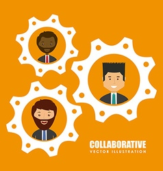 Coaborative people design vector