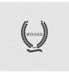Winner award sign vector