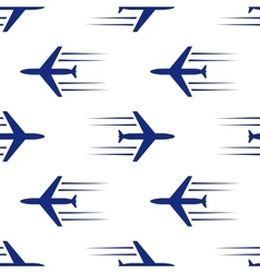 Blue planes seamless vector