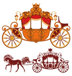 royal carriage vector image